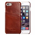 For iPhone 7 Case Genuine Leather Vintage Series Leather Case [2 Card Slots]Ultra Slim Leather Cases Back Cover For iPhone 7 New