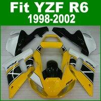 Fairings AbsสำหรับYAMAHA R6 98-02ชุดเครื่องบินเอบีเอส(สี