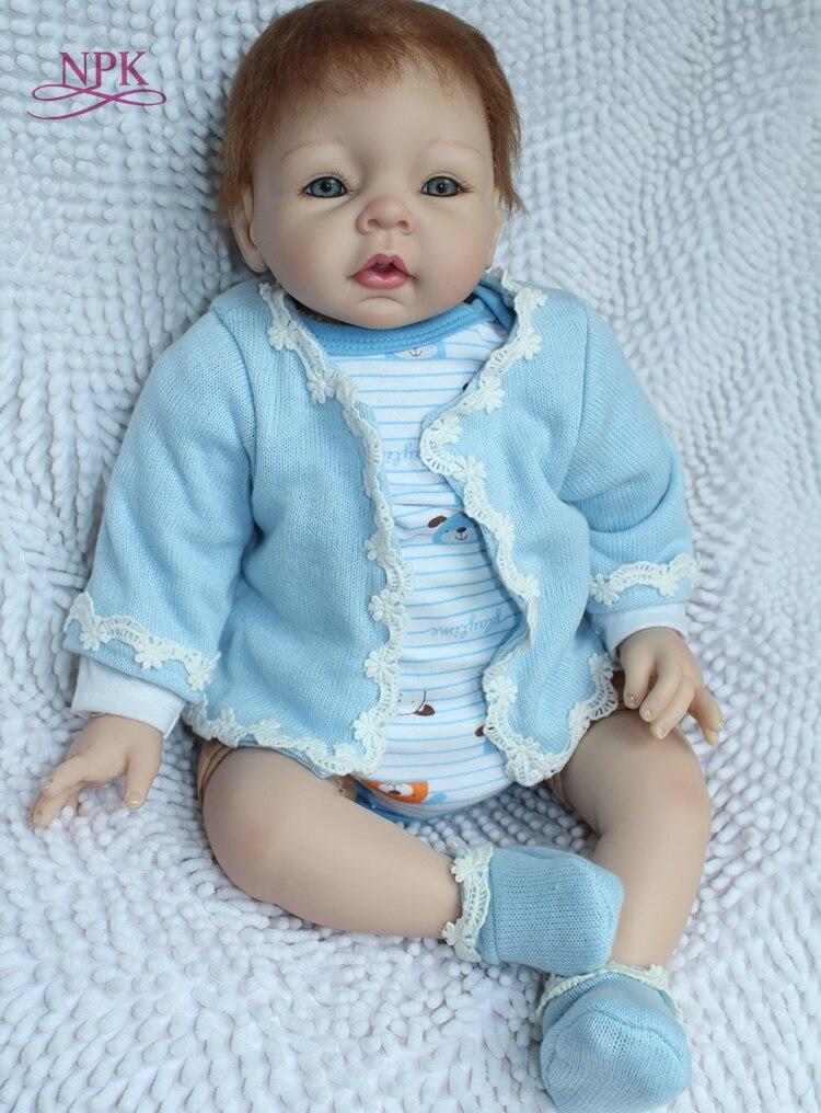 NPK 2017 nowy hurtownie realistyczne reborn baby doll hotsale lalki dla dzieci moda lalki prawdziwe miękkie delikatne dotknięcie w Lalki od Zabawki i hobby na  Grupa 1