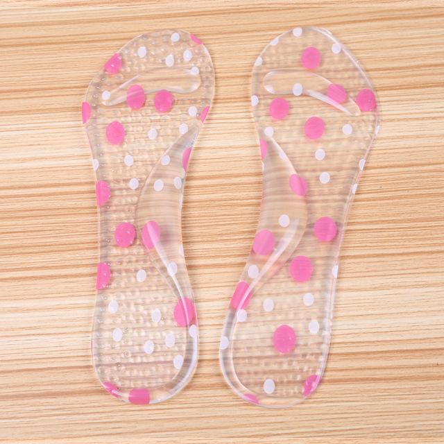 Salto alto Palmilhas de Silicone Para Sapatos de Sete Pontos Palmilha Fascite plantar Heel Protetores Acessórios Sapatos Almofada Do Pé 5 Par/set