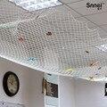 Tapeçarias de parede decoração do teto rede de pesca branco azul shell conch wall decor zakka decoração de casa