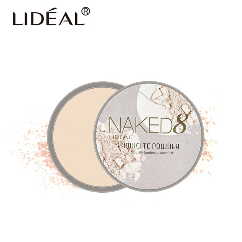 LIDEAL Brand Translucent Compact Pressed Face Contour Palette Finishing Powder Setting Makeup Bare Mineralize Skinfinish Soft