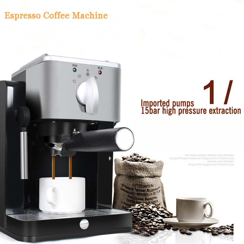 Household Coffee Maker Semi Automatic Espresso Coffee Machine High Pressure Pump Coffee Maker  TSK-1827RA korea brand sn 3035 automatic espresso machine coffee maker with grind bean and froth milk for home