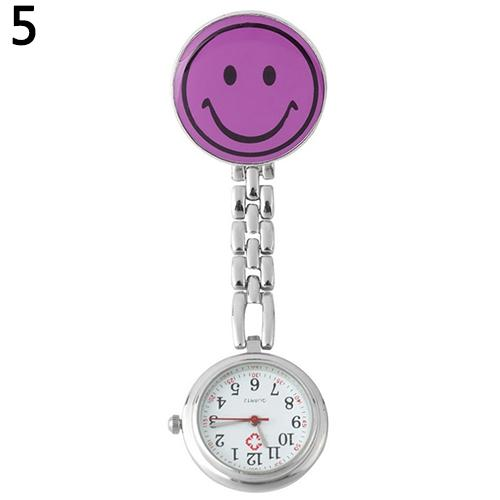 2018 New Pocket Watch Womens Lady Cute Smile Face Quartz Clip-on Brooch Nurse Pocket Watch Gift Nurse Watch Relogio De Bolso