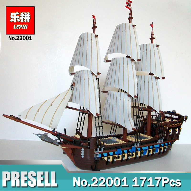 1717Pcs Lepin 22001 Imperial warships Pirates of the Caribbean Ship LegoINGlys 10210 Building Blocks Bricks Toys