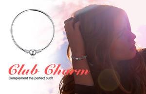 Image 4 - Bijoux palace Original 925 en argent Sterling chaîne bracelet Bracelets pour femme amour coeur Fit perles breloques argent 925 original bricolage