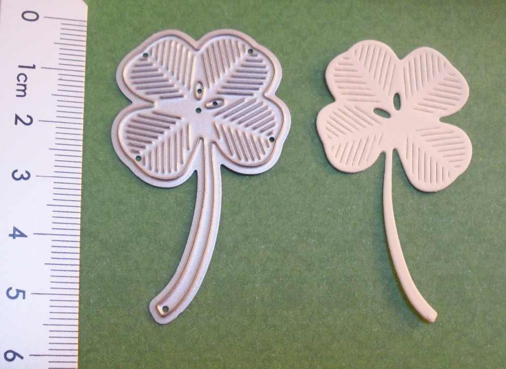 Cute Leaf Metal Cutting Dies Clover Flower Stencil Embossing 3D DIY Scrapbooking Photo Frames Craft Cards Decoration 33*55mm