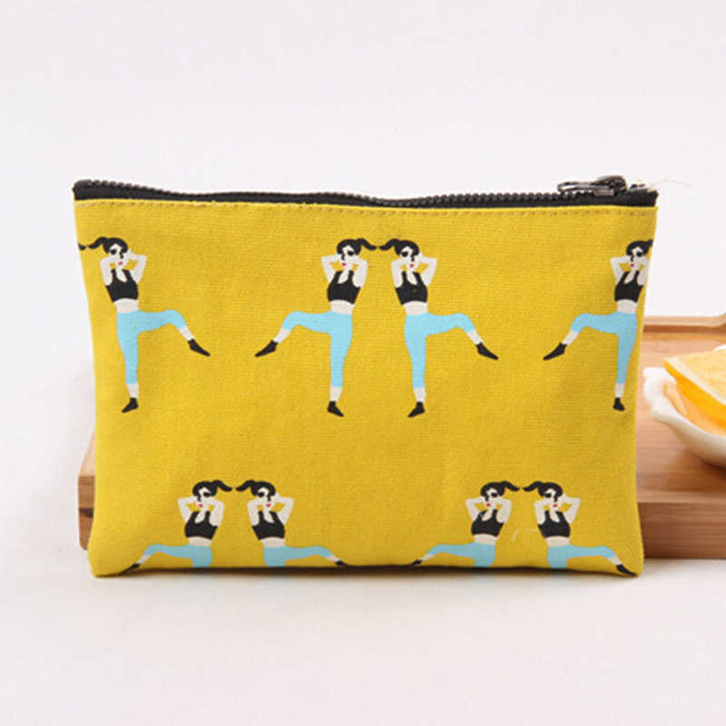 Women Men Coin Purse Organizer Art Coin Purses Canvas Zipper Key Mobile Phone Package Credit Card Holder Key Money Bags Pochette