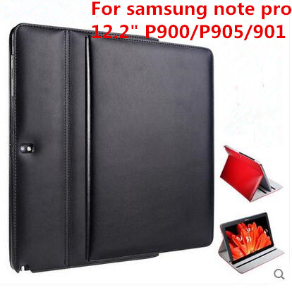 Fashion Leather Stand Case Cover for Samsung Note Pro 12.2 SM-P900 P901 P905 Tablet Cover 12.2 Inch + Gift official original metal keyboard station wireless blutooth stand case cover for samsung galaxy note pro 12 2 p900 p901 p905 t900