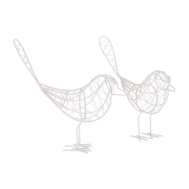 Detail Feedback Questions About Simple Vintage Metal Wire Iron Bird