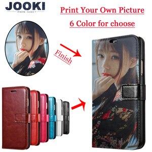 Image 1 - Custom Druck Foto DIY Anpassen bild Telefon Fall Für Huawei P8 P20 P20 lite Pro V9 Y9 Y6 Y7 2018 ehre 10 Flip Abdeckung