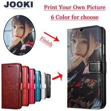 Custom Print Foto DIY Aanpassen afbeelding Telefoon Case Voor Huawei P8 P20 P20 lite Pro V9 Y9 Y6 Y7 2018 honor 10 Flip Cover
