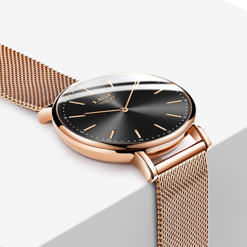 2020 LIGE New Rose Gold Women Watch Business Quartz Watch Ladies Top Brand Luxury Female Wrist Watch Girl Clock Relogio Feminin 5