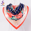 BYSIFA Chinese Silk Scarves Fashion Ladies Winter Headband Head Scarf Scarves China Style Promotion Cheap Scarves Wraps 90*90cm