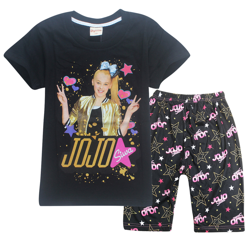 e9d695d43a6 Detail Feedback Questions about 2018 Summer jojo siwa Pajamas for Girls  short and shirts sets Pyjamas Set Baby Girl Unicorn Costume Kids Clothes  moana ...
