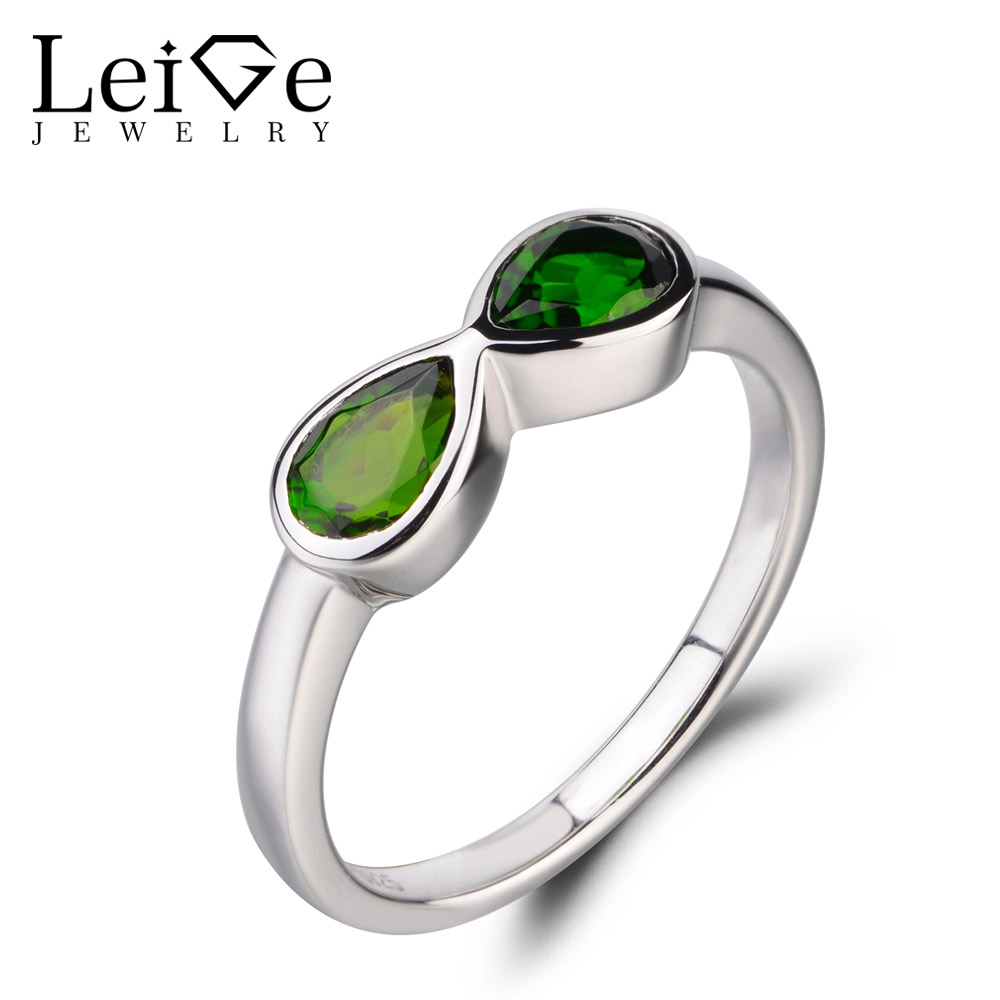 Pear 14k Yellow Gold Jewelry Details about  /Lovely Green Chrome Diopside Gemstone Ring 1.85 Ct