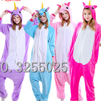 MengShuFen Newest Adults Pajamas All In One Pyjama Animal Suit Cosplay Women Winter Garment Cute Cartoon