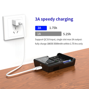 Image 3 - Xtar Lcd Charger Qc 3.0 Snel Opladen Voor VC4S / VC2S Power Bank Lader/VC2 VC4 Usb Charger 20700 21700 18650 Batterij Oplader