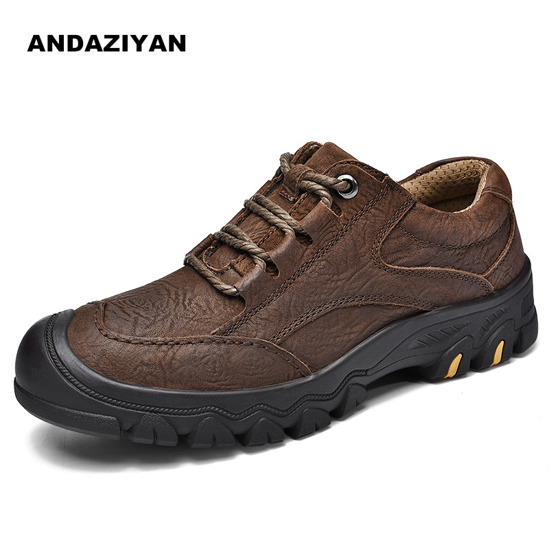 Men's casual shoes suede leather outdoor casual hiking shoes