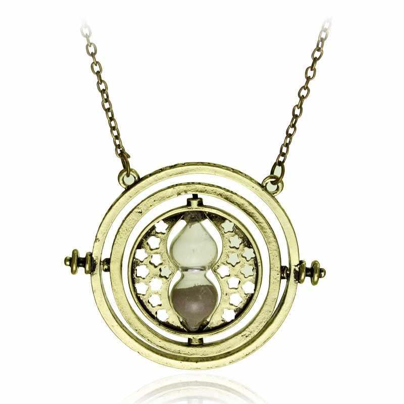 Dongsheng 10 шт. в партии Гермиона Грейнджер Вращающийся прибор для поворота времени вспять ожерелье HP золото/серебро Цвет песочные часы для женщин мужчин фильм ювелирные изделия