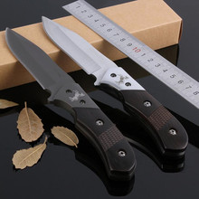58Hrc Fixed Blade Outdoor Survival Camping 8CR13Mov Knife Diving Straight Stainless Steel Tactical Titanium Plating Knife 18