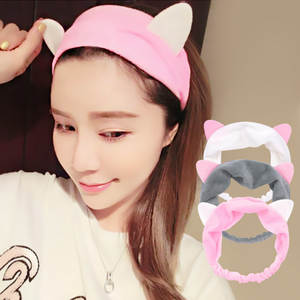 multiple styles Cute Elastic Cat Ears Headbands for Women Girls Makeup Face Washing Headband