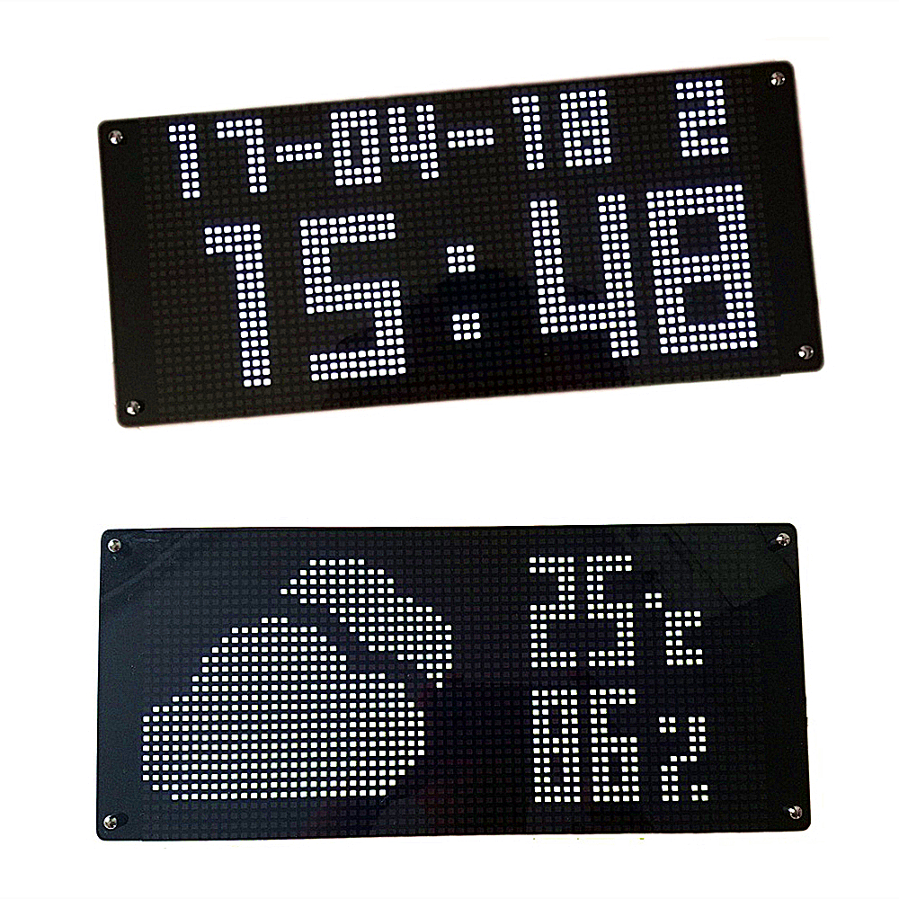 NTP Auto adjust time Wifi Network calibration time clock with weather temperature display glowing electronic LED wall clock