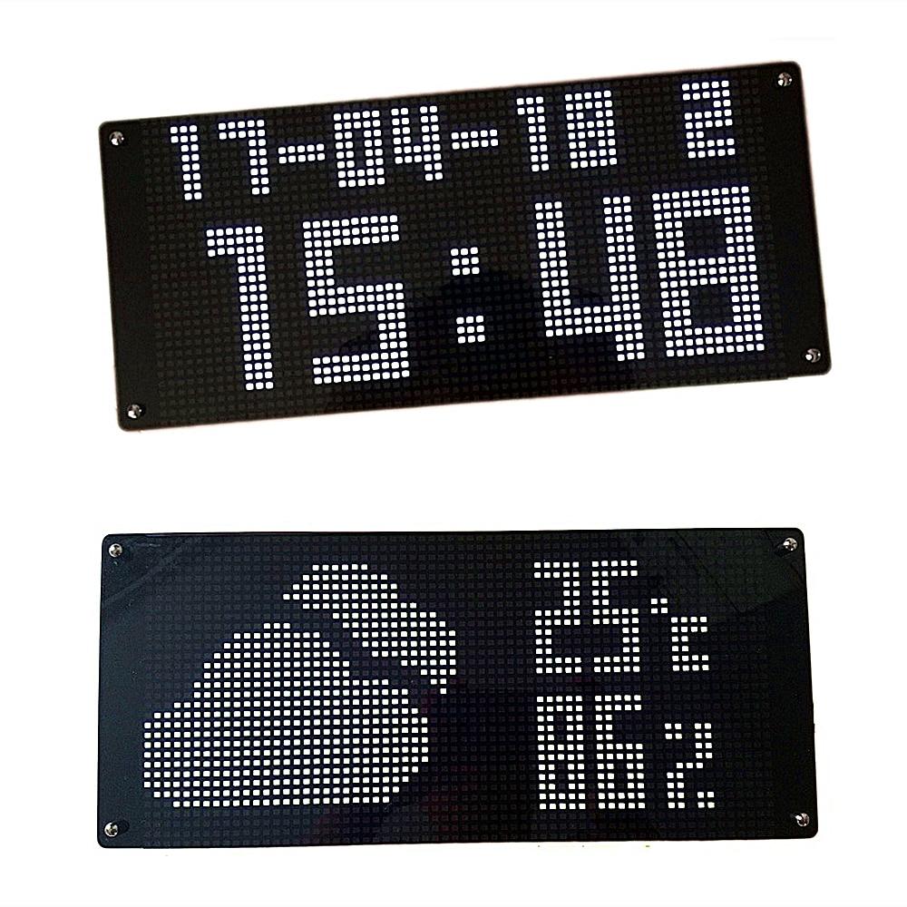 NTP Auto regolare il tempo di Rete Wifi tempo di calibrazione orologio con il tempo di visualizzazione della temperatura incandescente elettronico orologio da parete a LED