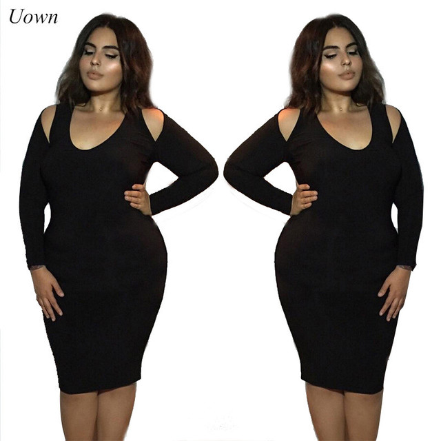 Women Sexy Off the Shoulder Long Sleeve T Shirt Dresses Ladies O Neck Red  Black Bodycon Midi Dress Party Club Tight Fitted Dress 3fe685557276
