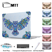 MTT Owl Printed Cover Case For Apple MacBook Pro 13 15 Retina Air 11 12 13.3 inch Mac book Laptop Bag Shell Notebook Case
