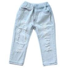 3d7dae9dbeda 2018 neue mädchen jeans hosen großes loch jeans mode rock star kindhose  baby mädchen kleidung für 12M-5Y