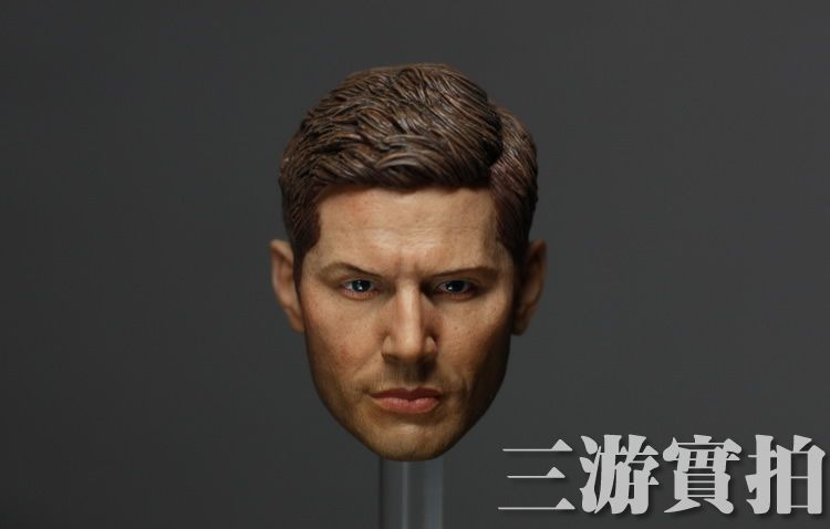1/6 scale figure doll head shape for 12 action figure doll accessories Supernatural Dean Winchester male Head carved 1 6 scale figure doll head shape for 12 action figure doll accessories iron man 2 whiplash mickey rourke male head carved