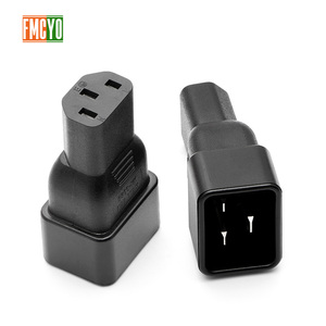 Image 3 - PDU power conversion plug 10a to 16A three vertical hole to three horizontal CE certification word connector C13 to C20 head