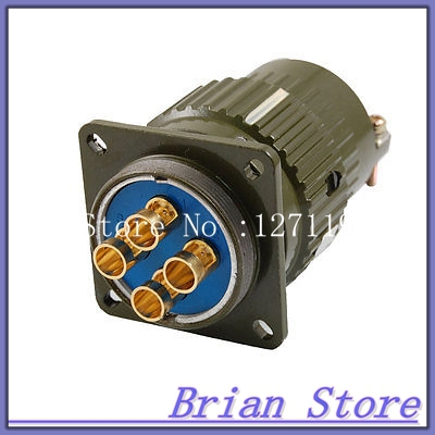 5.5mm Dia. 4 Pins Aviation Circular Connector Plug AC 500V 100A Y36M-4TK ac 500v 10a 10 pins aviation navigation connector coupler plug