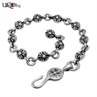 Hand Made Fashion Stainless Steel Link Chain Vintage Cross Charm Bracelets For Men Jewelry Pulseiras