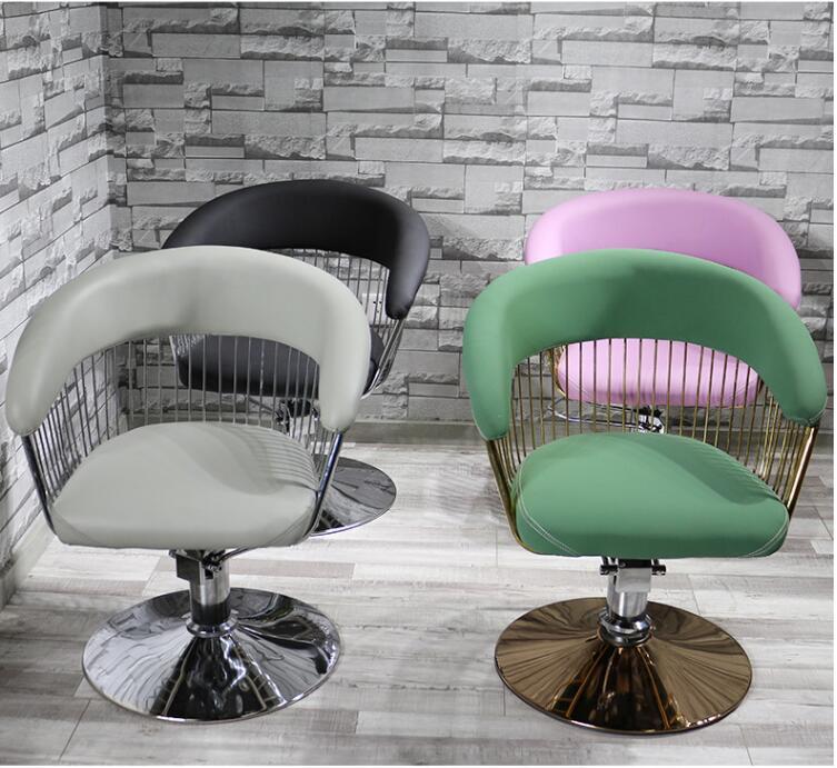 Купить с кэшбэком Fashion barbershop hair salons hair salons dedicated network red cut hair chair simple Japanese style chair chair chair