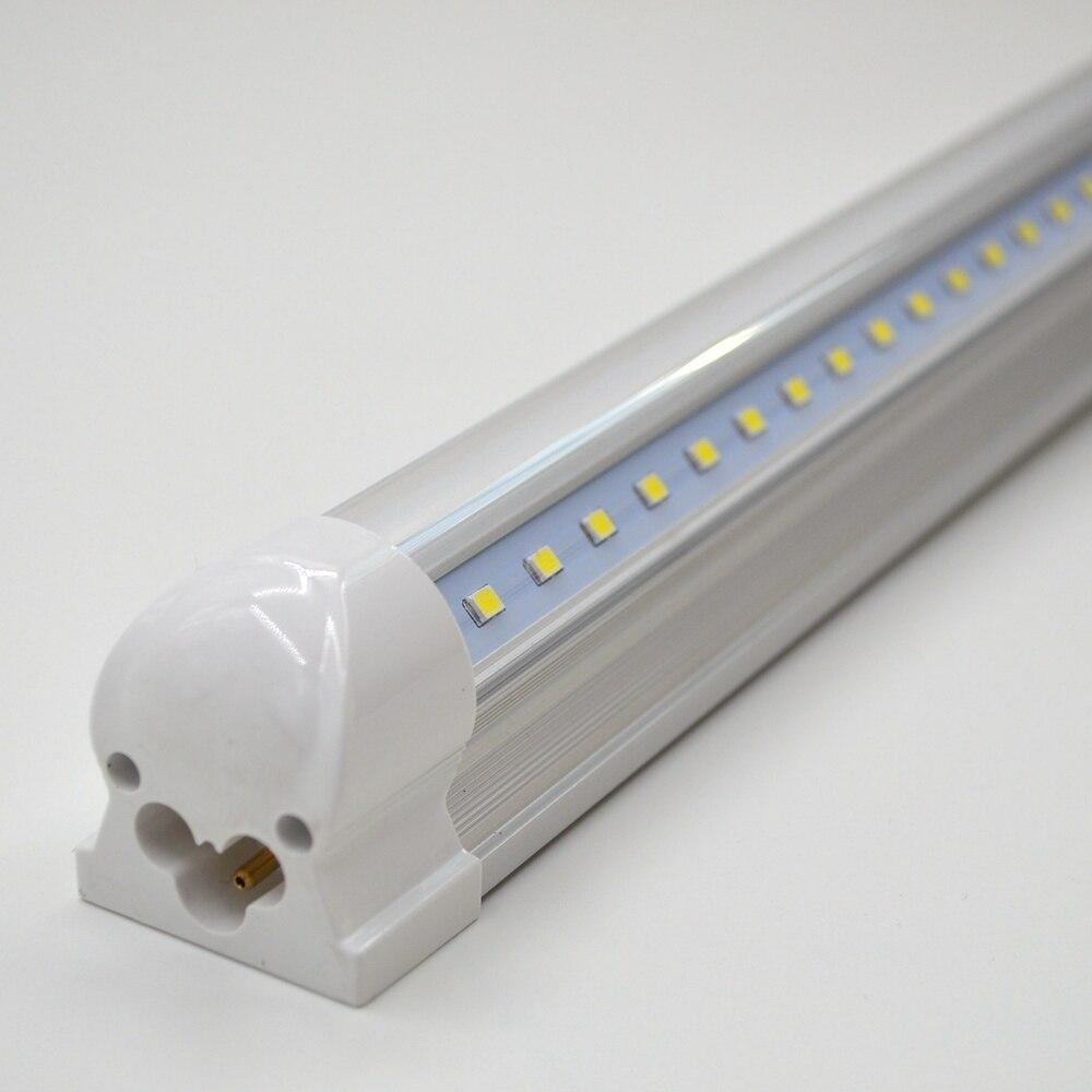 4-100/paquet tube de lumière LED en forme de V 270 angle 2ft 3ft 4ft 5ft 6ft 8ft barre lampe T8 intégré ampoule luminaire connectable Super lumineux - 5