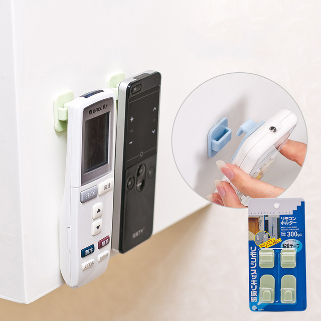 10PCS Remote Control Holder Wall Mounted TV Air Conditioner Remote Control Key Wall Storage Holder Sticky Remote Wall Holder