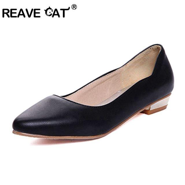 9df688b590e2 Blanc Orteil Noir Appartements Taille Occasionnels 45 Reave Rouge Dames  Pointu Solide Chaussures Richelieu Grande Sapato ...