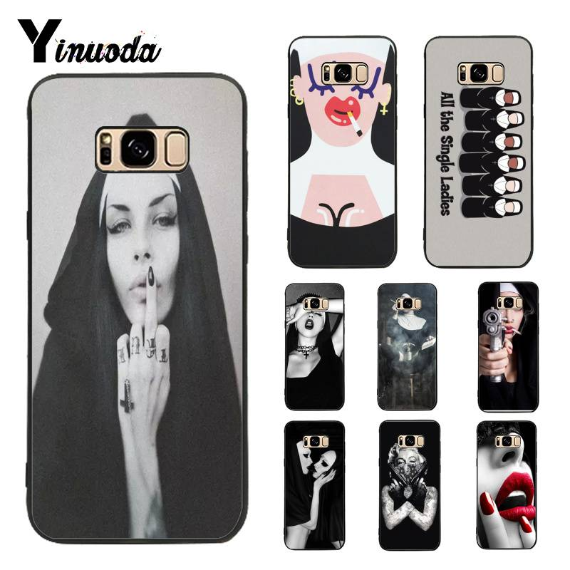 Yinuoda <font><b>Case</b></font> for Galaxy S9 Sister Nun <font><b>Sexy</b></font> Girl Hot Selling Design Skin Thin Cell Phone <font><b>Case</b></font> For Samsung Galaxy <font><b>S8</b></font> plus S9 plus image