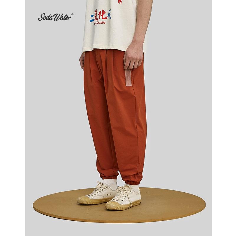 SODA WATER Brand Track Pants 2019 New Streetwear Men Harem Pants Solid Casual Jogger Trousers Summer High Street Pants 81189W