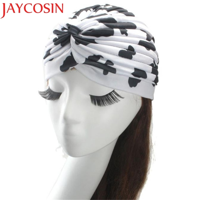 d43081b6d7a1 JAYCOSIN New Fashion Hot Indian Leopard Printed Turban Caps Skullies Beanies  Summer Hat Drop Shipping