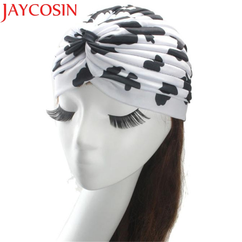 JAYCOSIN New Fashion Hot Indian Leopard Printed Turban Caps   Skullies     Beanies   Summer Hat Drop Shipping