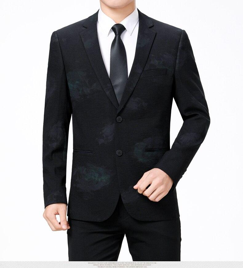 WAEOLSA Stylish Men Slim Fit Blazers Dark Flroal Print Suit Jackets Man Fashion Blazer Masculino Smart Casual Costume Mens Blazers Office (9)