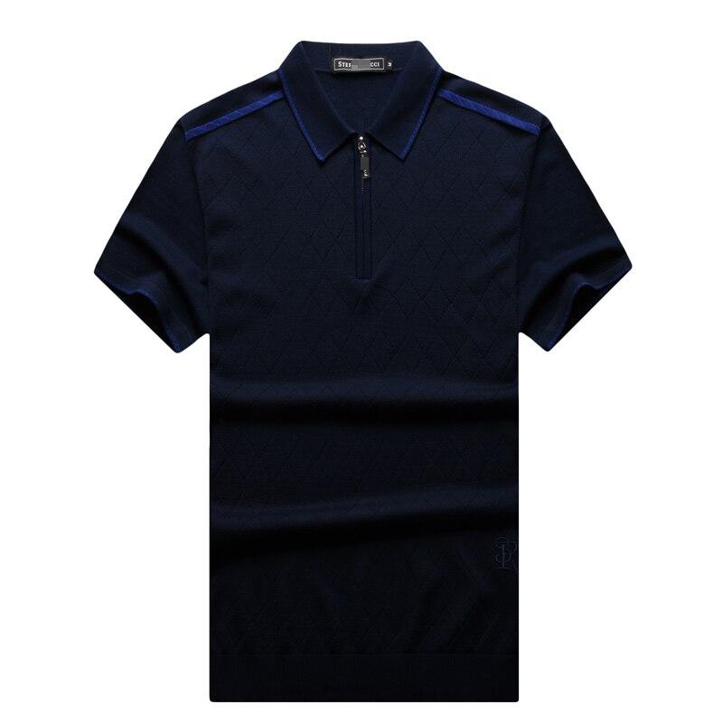T koszula męska 2017 uruchomienie lato moda komfort oddech materiał jednolity kolor haftowane list mężczyzna odzież darmowa wysyłka w Koszulki od Odzież męska na  Grupa 1