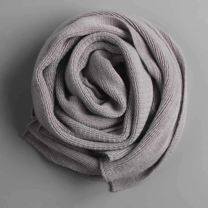 Invierno cálido bufanda de punto grueso bufandas calentitas invierno hombre cachemir cálido hombres bufandas