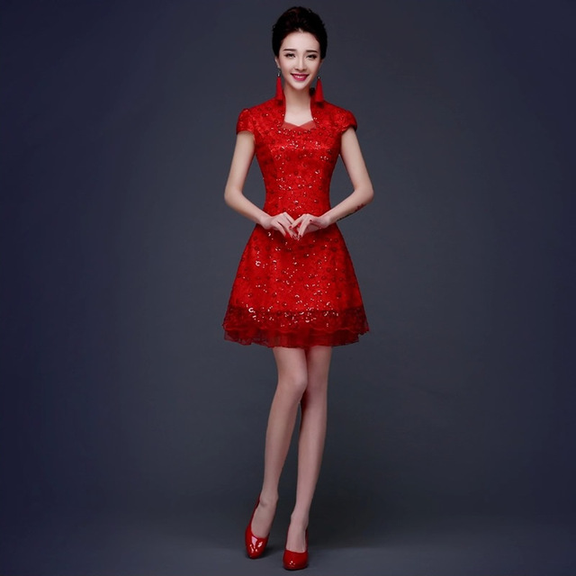2016 neue Chinesische Traditionelle Hochzeit Kleid Chinesische Rote ...