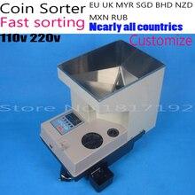 Elektroniczny SE-400 liczenia monet monety sorter maszyny dla wszystkich krajów dostosuj, Sortowania z DIODĄ LED, Francja Swiss monety Sorter