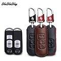 Чехол для автомобильного ключа KUKAKEY для Mazda 3 5 6 8 CX5 CX7 CX9 M6 GT 2016 2017 из натуральной кожи удаленный умный держатель для ключей на сумку для Mazda M2 M3
