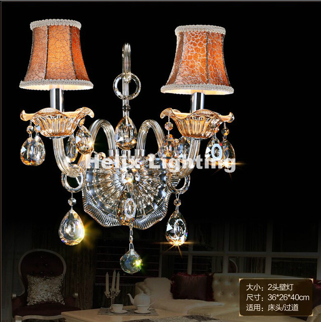 new arrival k9 crystal wall lamp champagne glass wall sconces light